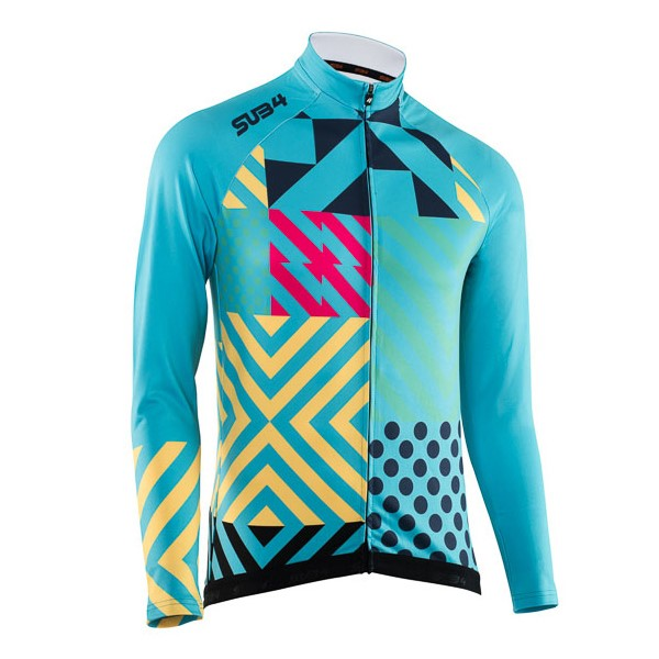 SUB4 Thermal Joker Unisex Long Sleeve Cycling Jersey - Teal