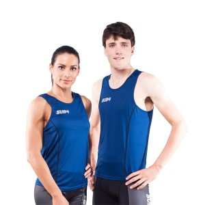 Sub4 Action Unisex Running Singlet - Blue
