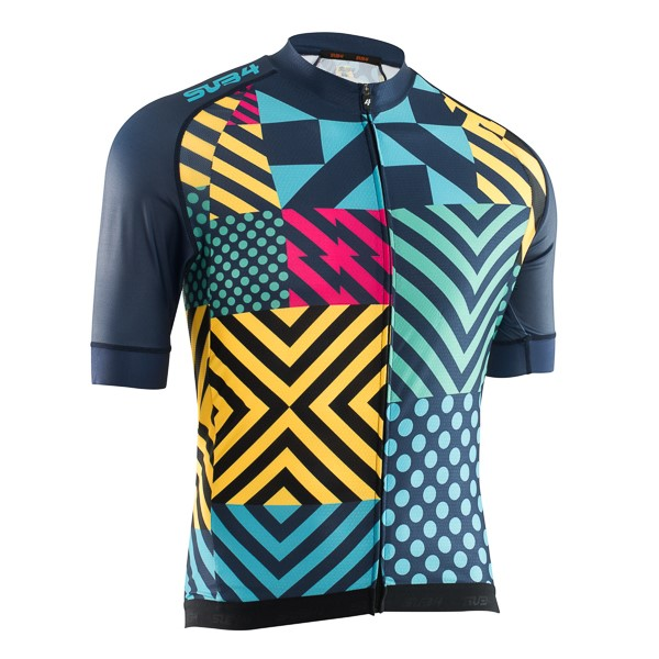 SUB4 Joker Mens Cycling Jersey - Navy/Yellow/Red